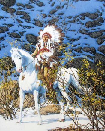 Eagle Heart - A Lithographic print 7571/48000 (Signed & Numbered) by artist Bev Doolittle