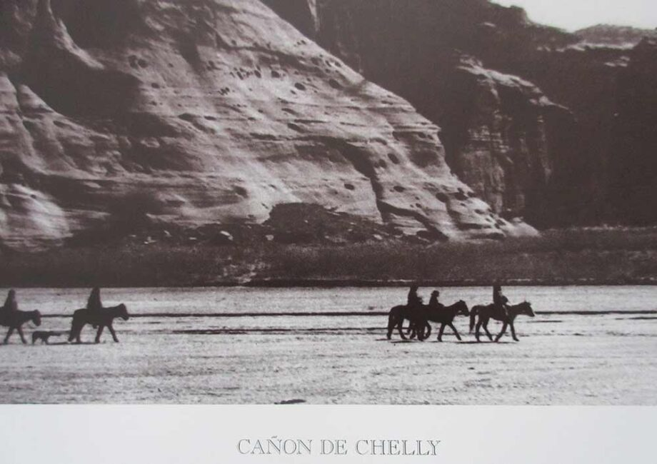 Canon De Chelly Lithographic Print by American photographer Edward S. Curtis