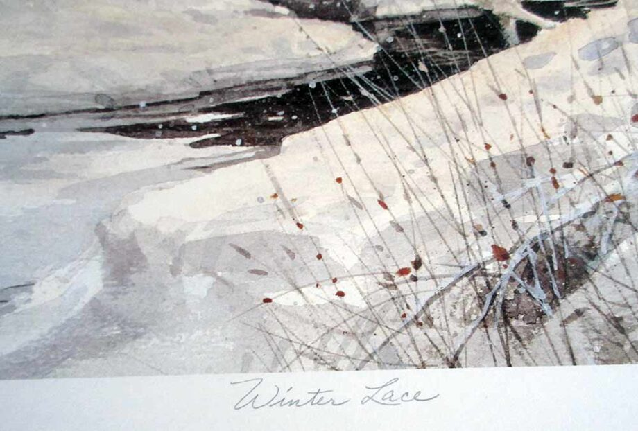 artist D.R. Laird - Winter Lace a lithographic print