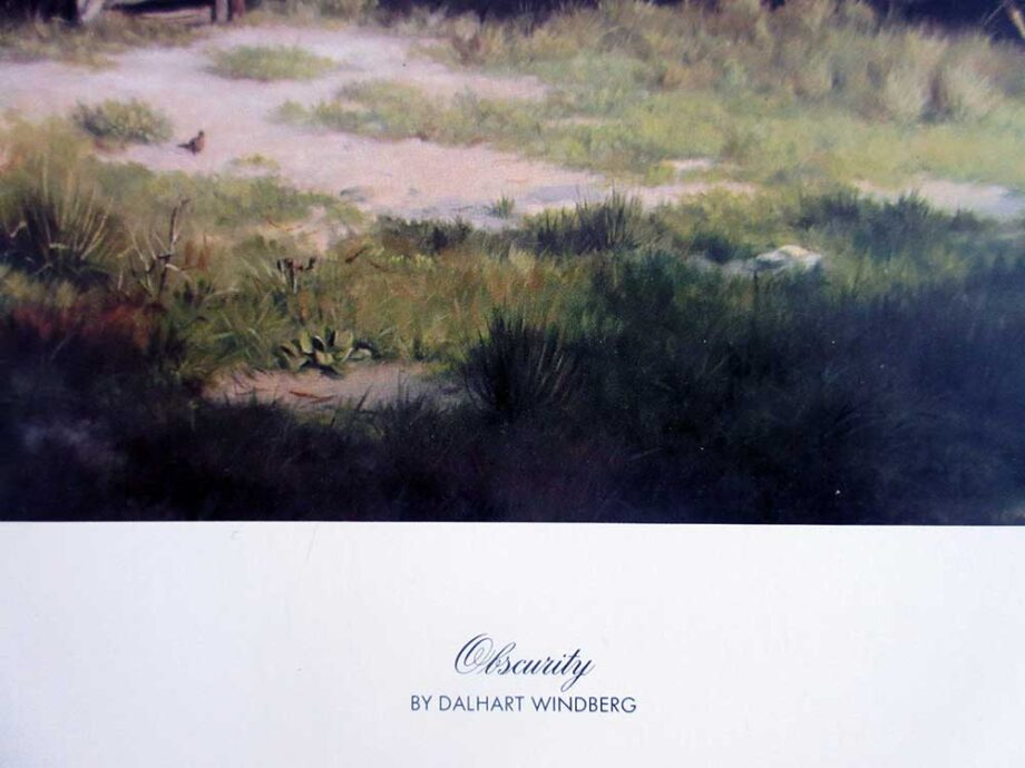Dalhart Windberg artist lithograph on board titled Obscurity