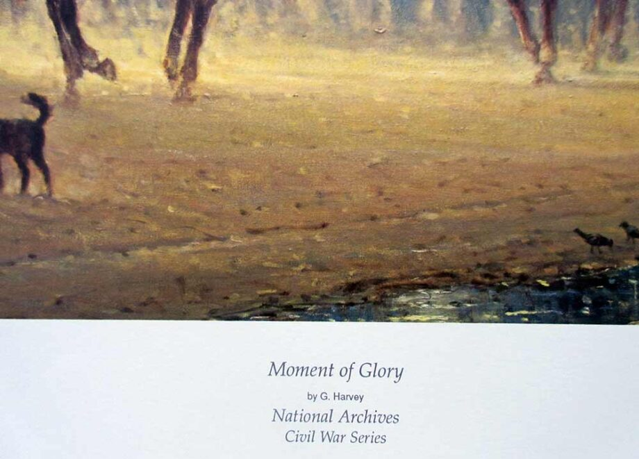 G. Harvey lithographic print Moments of Glory