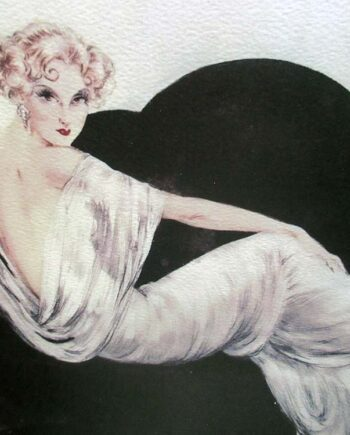 Sofa a Limited Edition25/175Art Deco Archival Lithographic Print by Louis Icart