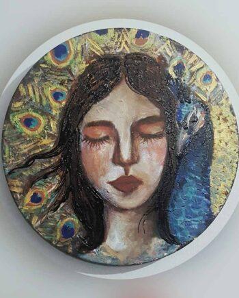 Muruvvet Durak a mixed media acrylic painting on canvas - Beauty