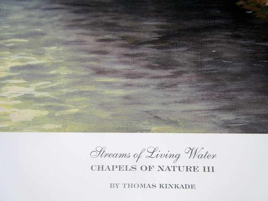 Thomas Kinkade the Painter of Light titled Streams of Living Water part of the Chapels of Nature III series