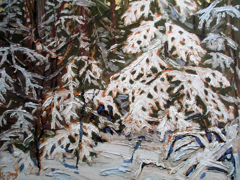artist Tom Thomson - Winter Woods a lithographic print