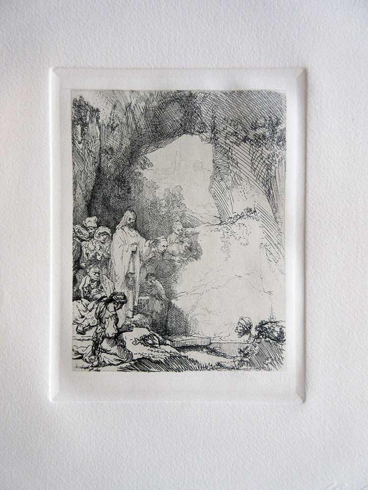 Etching on Off White Laid Paper by Amand Durand, After Rembrandt