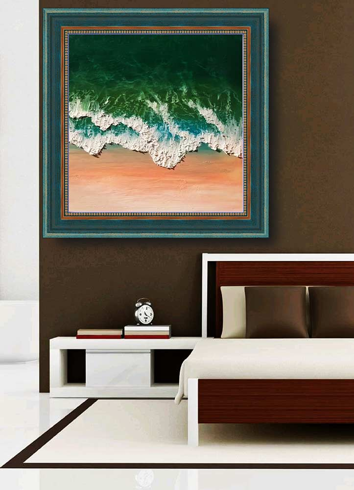 Wave a Pastel Painting by artist Diana Chan