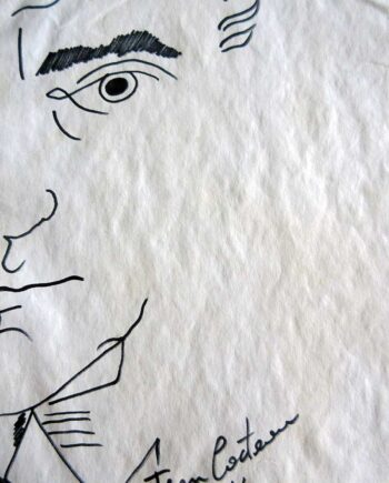 Self Portrait - drawing ink on paper by artist Jean Cocteau