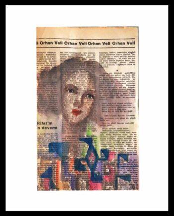 Muruvvet Durak a mixed-media painting on paper - Etnical Women