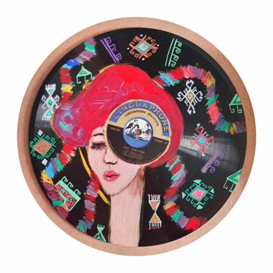 Muruvvet Durak a mixed-media painting on wood and plak mixed media 2021 - Motif