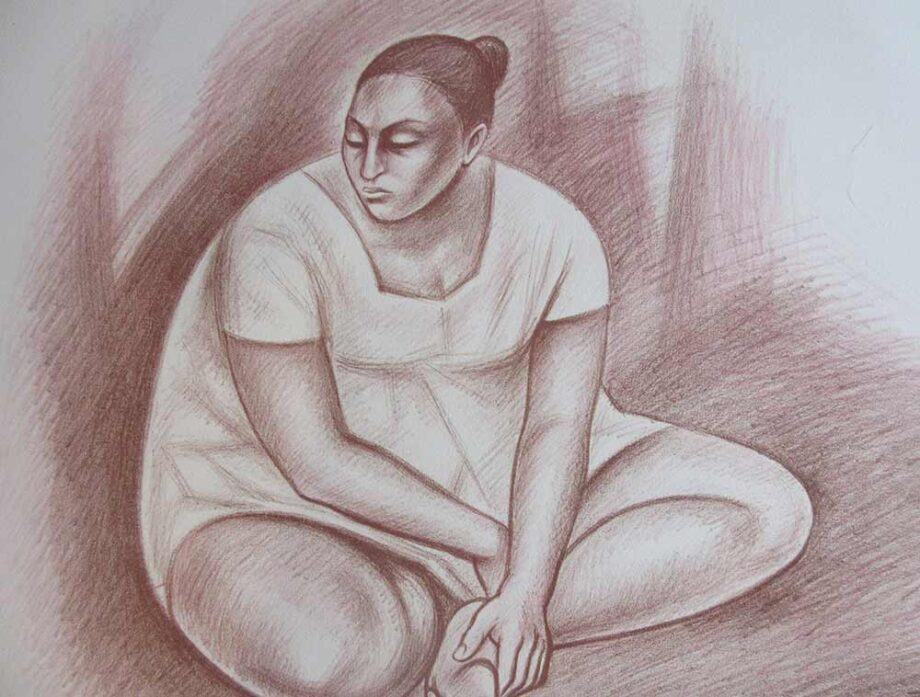 Unknown (Nostalgia 1982) - lithograph on archival paper by artist Raul Anguiano