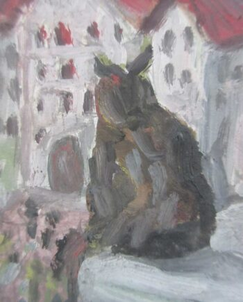 Perched Owl a Mixed-Media painting on Board by Chaim Soutine
