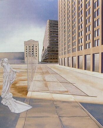 Exploration II - oil on canvas - streets of Manhattan by David Vincent Wheeler