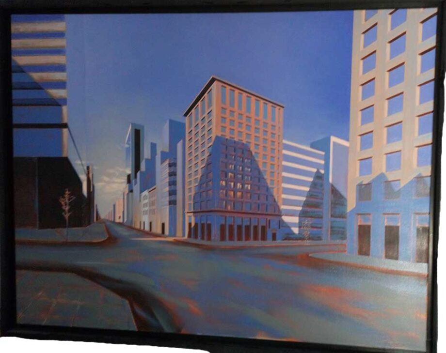 Exploration VI - oil on canvas - lower Manhattan financial district by David Vincent Wheeler