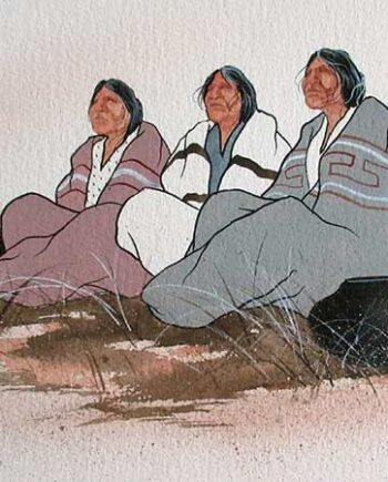 Native American a limited edition lithograph print on archival paper by John A. White