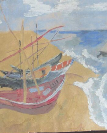 Sailing - a Gouache on Wove Paper by Paul Kleinschmidt