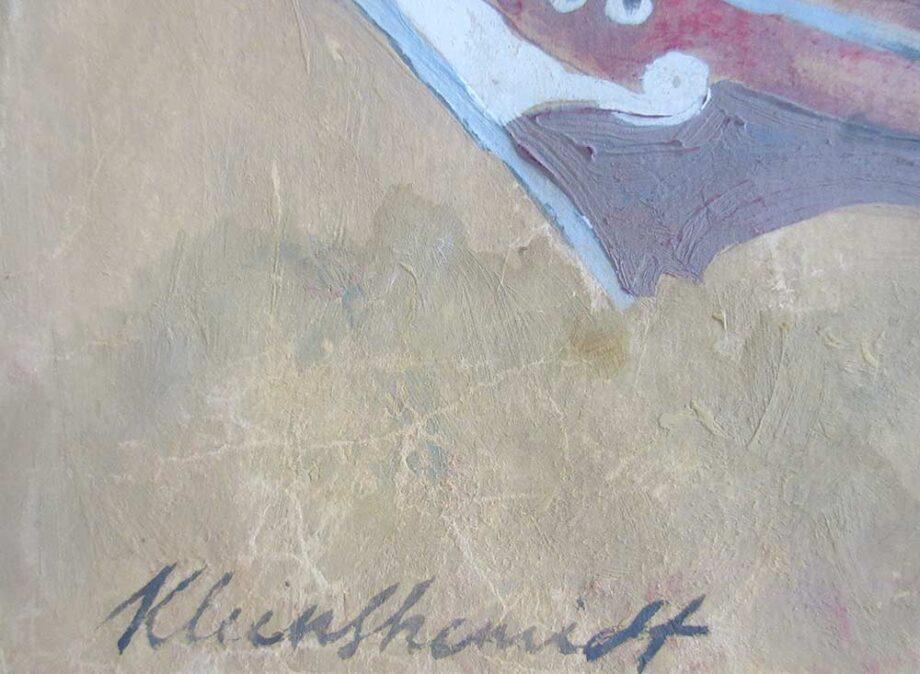 Sailing - a Gouache on Wove Paper by Paul Kleinschmidt