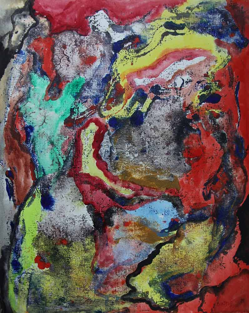 Greek Artist, John Kontakis an original abstract watercolor painting - Wave Of Thoughts II