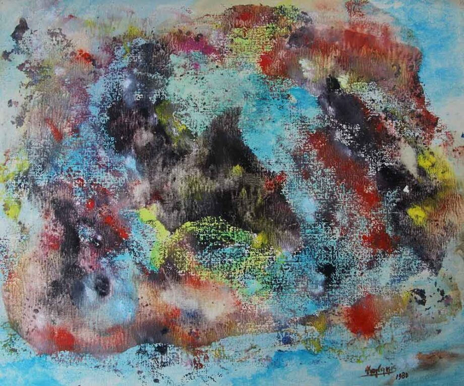 Greek Artist, John Kontakis an original abstract watercolor painting - Wave Of Thoughts IV