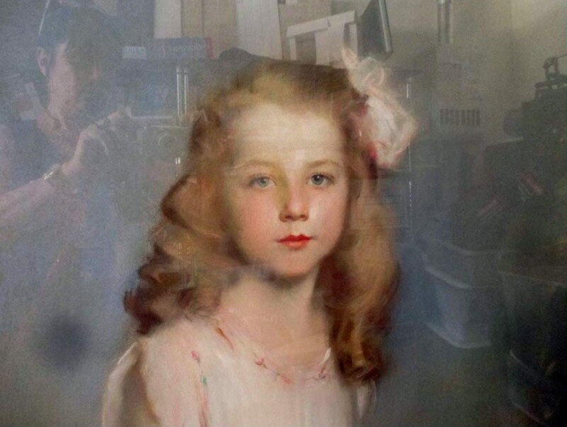Something So Sweet, portrait of Jane Kaufman - a pastel painting by Artur Lajos Halmi