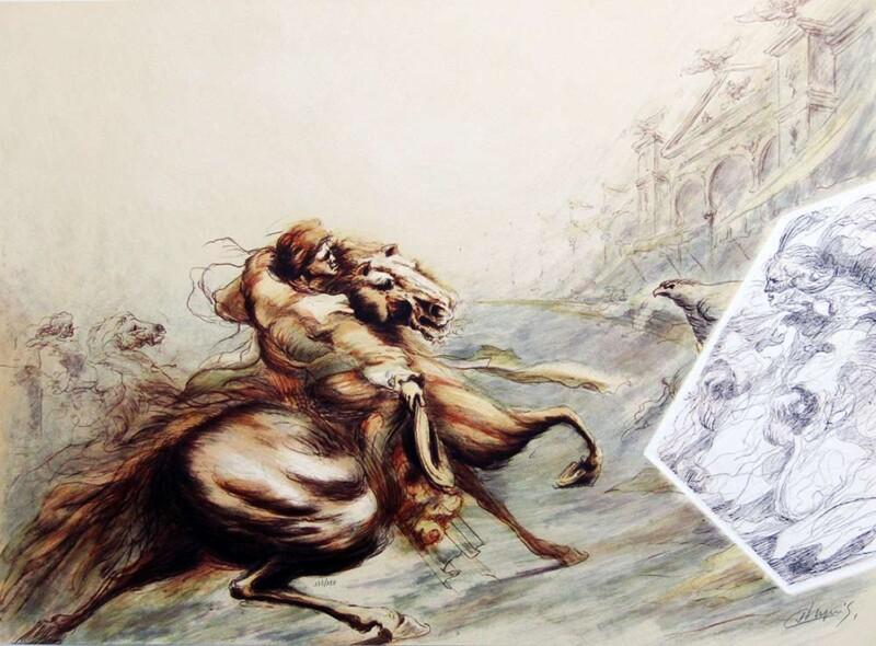 Le Guerrier by Jean Dupuis a limited edition print