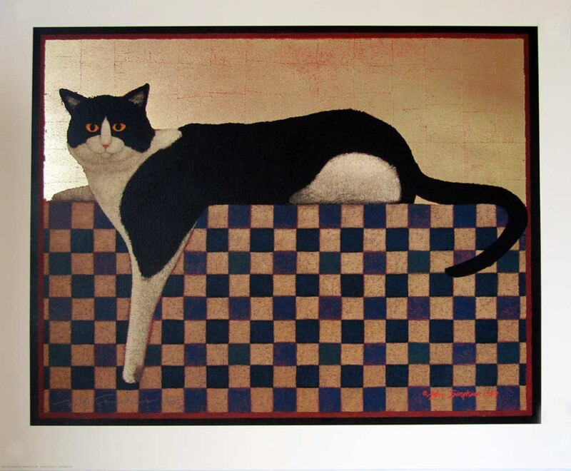 Pavanne In Gold by John Simpkins a limited edition cat art print
