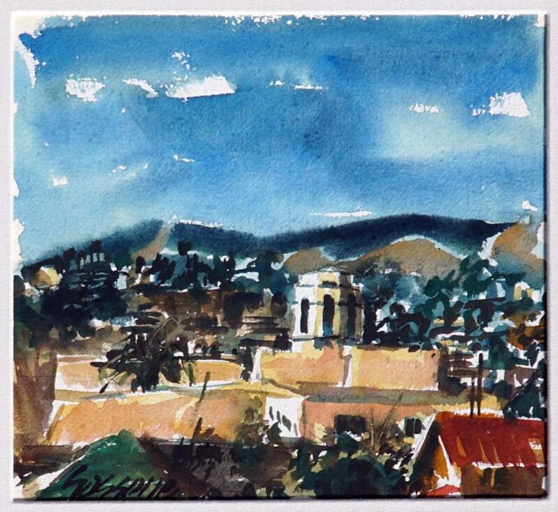 Marco Sassone original Watercolor Painting the Laguna Hotel