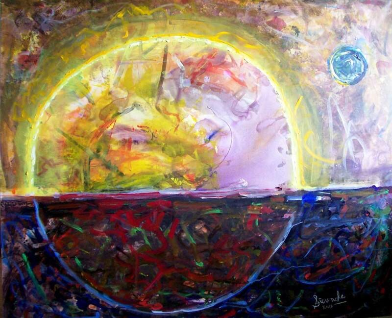 Tropic of Cancer an oil/acrylic painting on canvas by Arthur Secunda